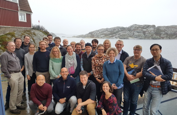 Group photo of workshop in offshore aquaculture (Sweden, October 2019)