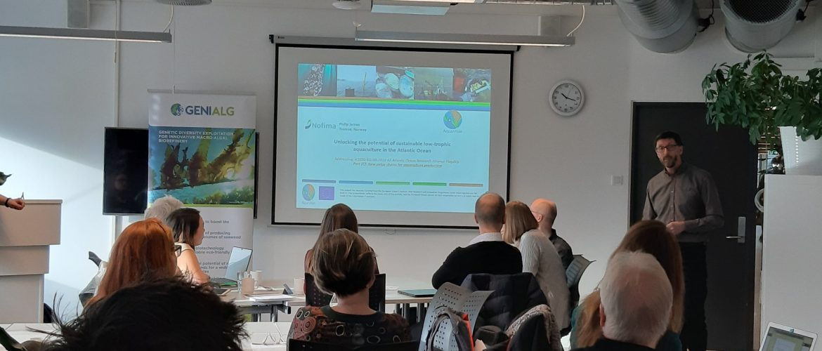Philip James of NOFIMA introduces workshop on seaweed production in Norway by AquaVitae and Genialg.