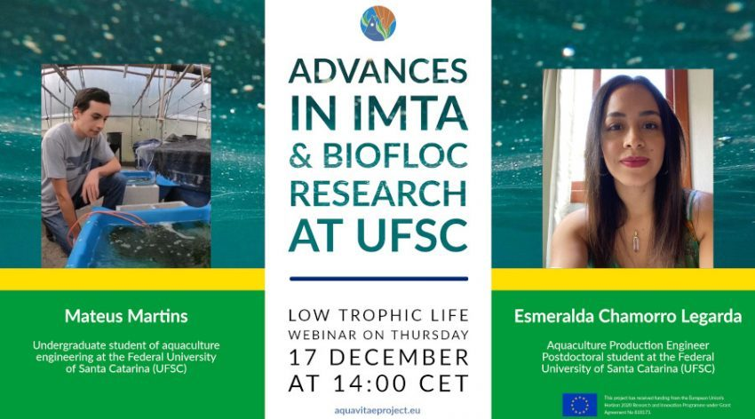 "Low Trophic Life Webinar: ""Advances in IMTA & Biofloc. Research at UFSC"""