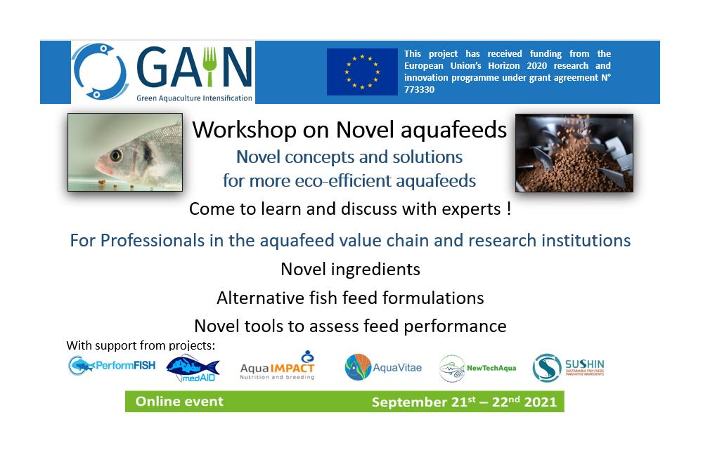 GAIN workshop on novel Aquafeeds